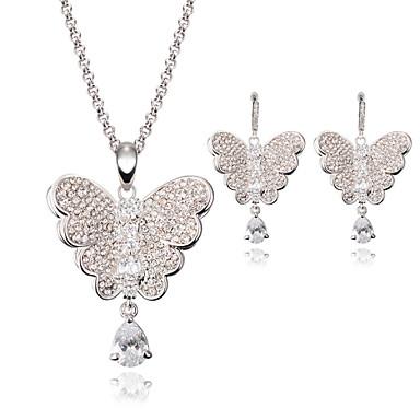 Mujer Cristal Conjunto de joyas - Mariposa, Animal Incluir Plata Para Boda / Fiesta / Collare