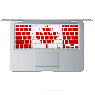 Canadian flag design Silicone Keyboard Cover Skin for MacBook Air 13.3, MacBook Pro With Retina 13 15 17 US Layout