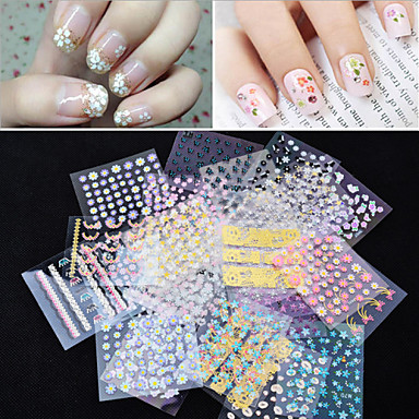 50 3D Nail Stickers Fashion Lovely Wedding Punk Daily High Quality