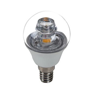 E14 LED Candle Lights G45 1 COB 420 lm Cold White 6500 K Decorative AC 100-240 V