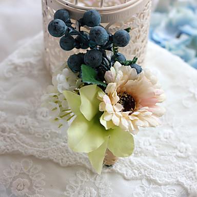Esküvői virágok Szabadformájú Bazsarózsák Virágkitűzők Esküvő Parti /Estélyi Poliészter Szatén