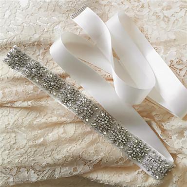 Saten Düğün Parti / Gece Günlük Kuşak With Taşlı Kristal Boncuklama İnci Payet Kadın's Kuşaklar