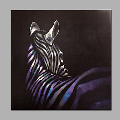 Hand-Painted Animals Modern Canvas Oil Painting Home Decoration One Panel