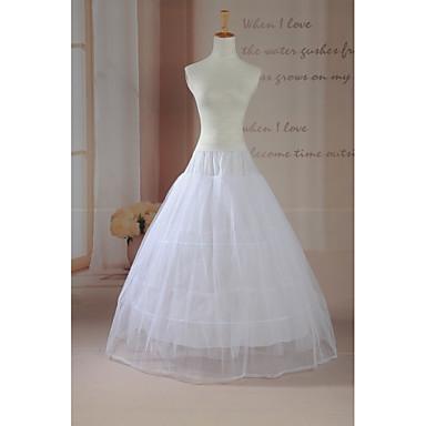 Slipler Balo Elbisesi Alt Giyimi Yer-uzunluğunda 2 Tül Beyaz