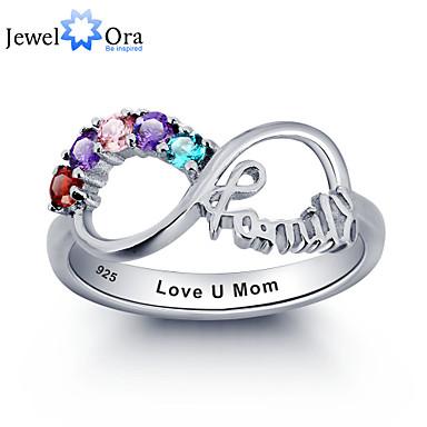 Women's Couple's Unisex Ring Cubic Zirconia Sterling Silver Cubic Zirconia Silver Stylish Wedding Party / Evening Costume Jewelry