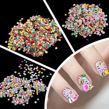 1000pcs Jóias de unha Fruta / Flor / Fashion Adorável Diário Nail Art Design