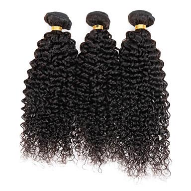 Perui haj Göndör szövés Kinky Göndör Emberi haj sző 3 darab 0.3