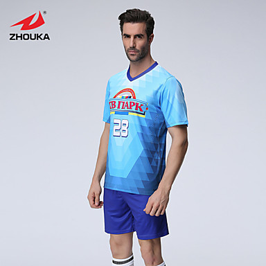 5b5bb7d1fe0 ZHOUKA® Customized/Personalized Custom (Word + Number) Soccer Kit Football  Jersey Sportswear Team Polo Shirt + Shorts #04765581