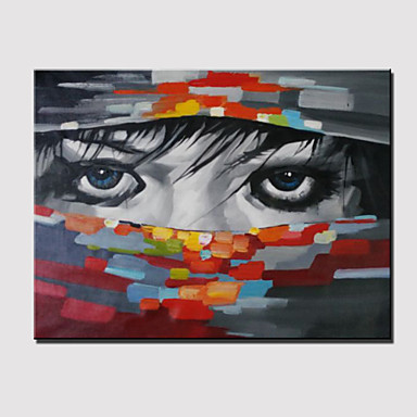 Kézzel festett Emberek Vízszintes panoráma, Modern Vászon Hang festett olajfestmény lakberendezési Egy elem