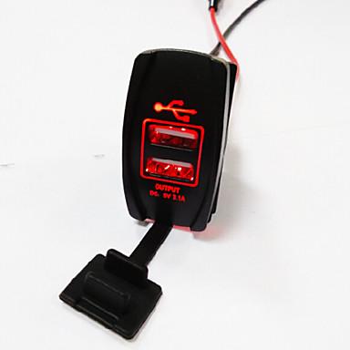 Lossmann dupla tomada USB padrão arb Carling muda recortes barco carro carregador 5v 3.1a.