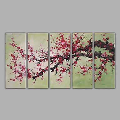 Hang malte oljemaleri Håndmalte - Still Life Klassisk Lerret