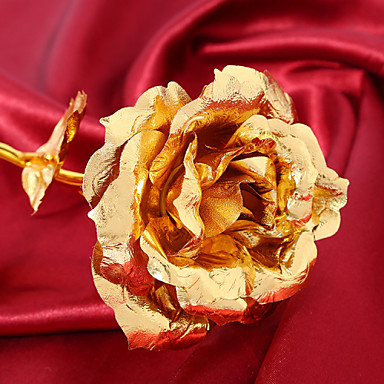Artificial Flowers 1 Branch European Style Roses Tabletop Flower