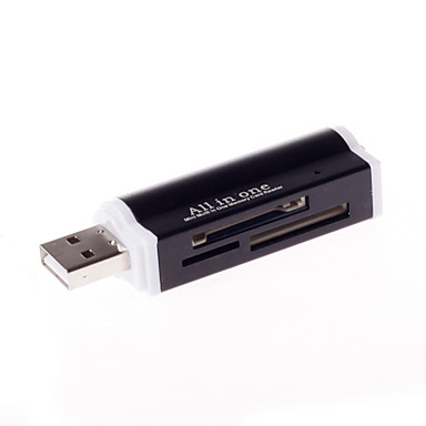 4 In 1 Multi-Function Memory Card Reader Aluminum Alloy Shell USB2.0