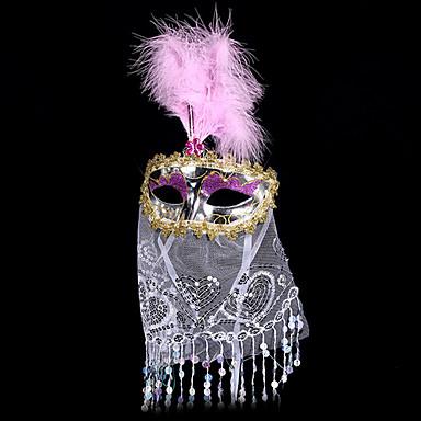 Karnaval Maske Unisex Cadılar Bayramı Karnaval Festival / Tatil Cadılar Bayramı Kostümleri Altın YAKUT Doğal Pembe Mor Gül