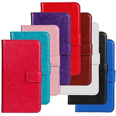 Til Etui Nokia Lommebok Kortholder med stativ Etui Heldekkende Etui Ensfarget Hard PU-lær til NokiaNokia Lumia 930 Nokia Lumia 830 Nokia