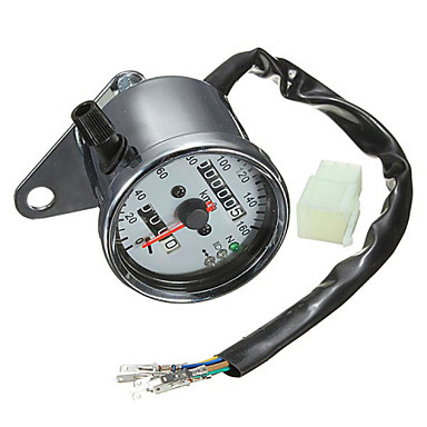 iztoss motorsykkel dual kilometer speedometer måler bakgrunnsbelysning signallys