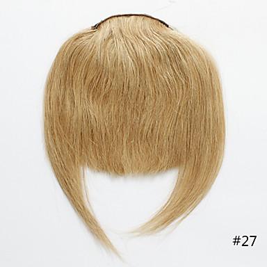 povoljno Perike i ekstenzije-Trustfire S kopčom Proširenja ljudske kose Ravan kroj Klasika Ljudska kosa Šiške Nano Bež plavuša / Bleached Blonde
