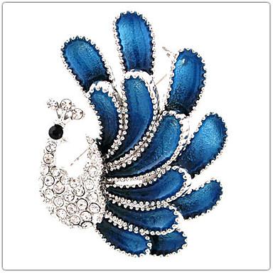 Kadın Broşlar Yapay Elmas Gümüş Kaplama imitasyon Pırlanta alaşım Moda Zarif tavuskuşu Mücevher Düğün Parti Özel Anlar Doğumgünü Günlük