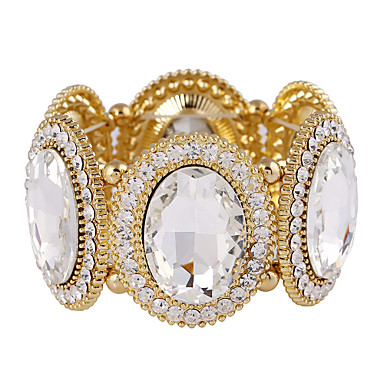 Women's Charm Bracelet Bangles Crystal Crystal Rhinestone Simulated Diamond Alloy Statement Jewelry Fashion Silver Golden Jewelry 1pc