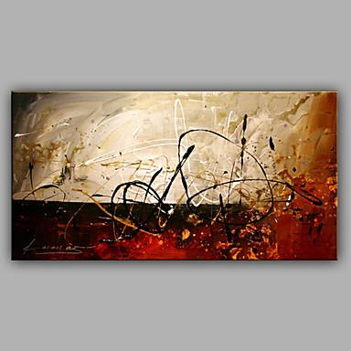 Hang malte oljemaleri Håndmalte - Abstrakt Moderne Lerret