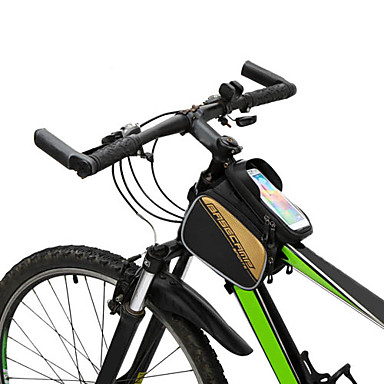 Bike Frame Bag Cell Phone Bag External Frame Pack 6inch inch Waterproof Touch Screen Multifunctional Cycling for iPhone X iPhone 8 Plus /