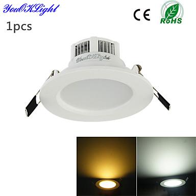 YouOKLight 300 lm Innfelt lampe 6 LED perler SMD 5730 Dekorativ Varm hvit / Kjølig hvit 220-240 V / 110-130 V / 1 stk. / RoHs / 90