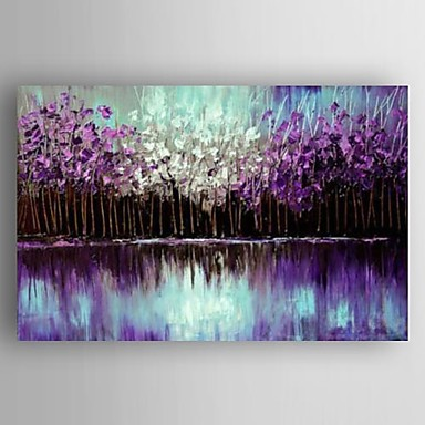 Hand-Painted Landscape Modern Canvas Oil Painting Home Decoration One Panel