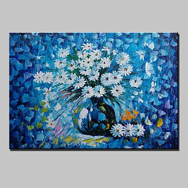 kézzel festett absztrakt táj modern nyíló virágok kés olaj, vászon kész lógni egy panel