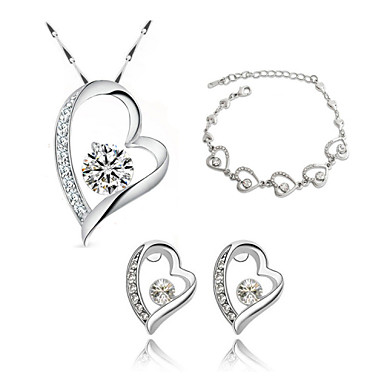 Women's Crystal Jewelry Set - Crystal Include Purple / Rose / Blue For Wedding / Party / Daily / Earrings / Necklace / Bracelets & Bangles