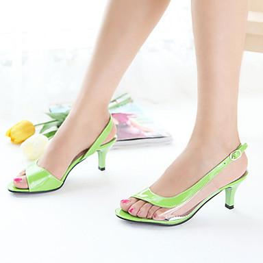 Semicuero Coral Rosa Combinación Zapatos 04801072 Azul Stiletto Verano Tacón Mujer Primavera z5xwwY