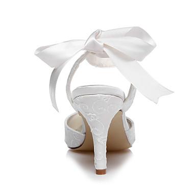 amp; Soie Ivoire Femme Lacet rond Confort Mariage Eté Chaussures Talon Evénement Bout Printemps Soirée 04796161 Aiguille 5OwqBvOa