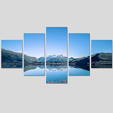 Abstracto / Paisagem / Moderno Impressão em tela 5 Painéis Pronto para pendurar , Horizontal