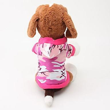 Köpek Kapüşonlu Giyecekler Köpek Giyimi kamuflaj Yeşil Pembe Pamuk Kostüm Evcil hayvanlar için Erkek Kadın's Günlük/Sade Moda