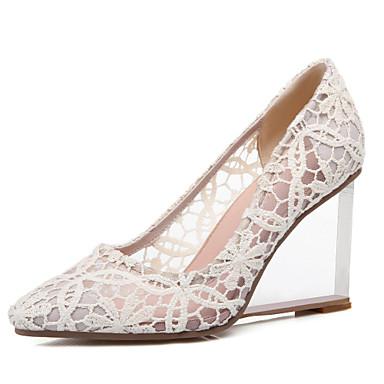 compensée Printemps Chaussures Pour amp; Soirée Hauteur 04795794 Automne Cuir Evénement Femme Habillé semelle de Noir Rouge cristal Beige Talon Eté wpE8Wq