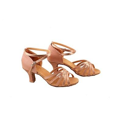 Kadın's Latin Dans Ayakkabıları Saten Sandaletler İç Mekan / Performans / Dış mekan Düşük Topuk Kişiselletirilmemiş Dans Ayakkabıları