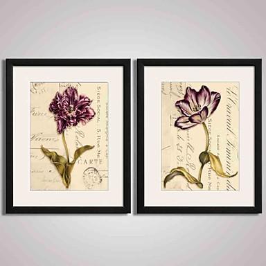 Çerçeveli Sanat Baskısı Çerçeveli Tuval Çerçeve Seti Soyut Manzara Natürmort Çiçek/Botanik Duvar Sanatı, PVC Malzeme Frame ile Ev
