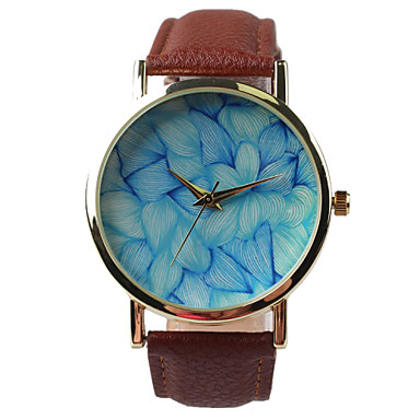 Fashion Leisure Belt Watch Female Flower Pattern Cool Watches Unique Watches