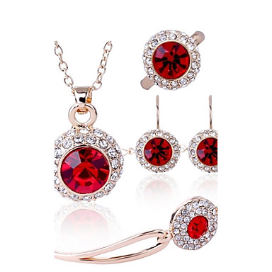 Women's Crystal Wedding Party Daily Casual Rings Earrings Necklaces Bracelets & Bangles Costume Jewelry