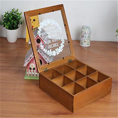 속눈썹 경우 속옷 화장품 나무 책상 다기능 저장 상자