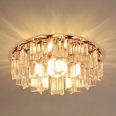 Tiffany Köy/Kırsal Vintage El Feneri Ülke Geleneksel/Klasik Retro Modern/Çağdaş Kristal LED Sıva Altı Monteli Ortam Işığı Oturma Odası