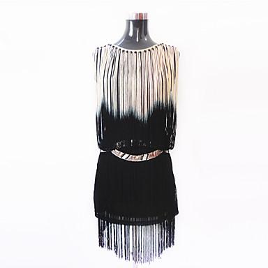 Latin Dansı Elbiseler Kadın's Performans Polyester / Splandeks Püsküllü Elbise