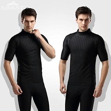 Herrn Neopren- Dive Skins Neoprenanzug Oberteil Wasserdicht warm halten UV-resistant Weichheit Elastan Chinlon LYCRA® Taucheranzug Kurzarm
