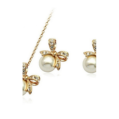 Women's Wedding Party Daily Casual Crystal Earrings Necklaces