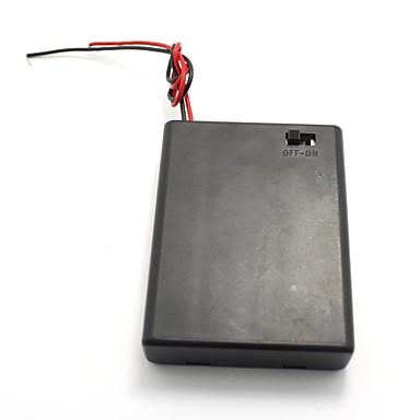 4 x AAA elem akkumulátor tartó ügy tároló w / be kapcsoló