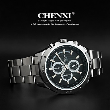 CHENXI® Homens Relógio de Pulso Quartzo Quartzo Japonês Aço Inoxidável Banda Prata