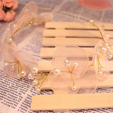 Cabeça de organza feminina / florista - casamento / ocasião especial / headbands ao ar livre 1 peça