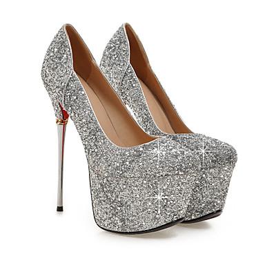 Evénement Bout Chaussures Talon Aiguille Noir Femme 05567380 Chaussures Printemps Soirée Talons à Paillette pointu Eté amp; Mariage Argent Blanc Automne Synthétique H8dFxv8