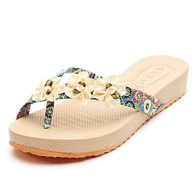 Ženske cipele-Sandale-Ležerne prilike-Platno-Niska potpetica-Papuče-Crna / Plava / Ružičasta