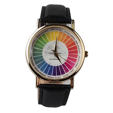 בגדי ריקוד נשים שעון יד שעוני אופנה קווארץ PU להקה שחור