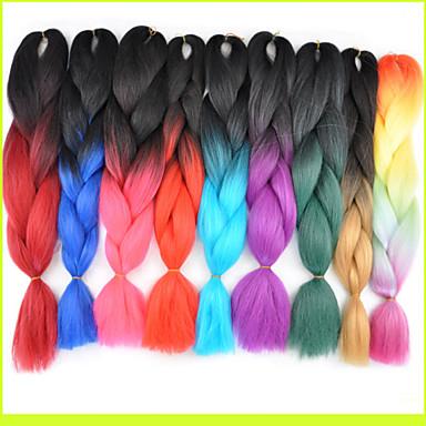 ms Afrika kimyasal elyaf renk büyük çocuk jumbo örgü saç yüksek sıcaklık tel 1pcs